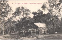 ES VILADRAU - ATV 796 - Carboneros - Les Charbonniers - Attelages - Animée - Belle - Bergbau
