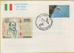144164 Aerogramme Par Avion Via Aerea Nasa Italia 850 - 6. 1946-.. Repubblica