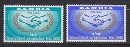 Zambia 1965 Mi. 20-21 Vereinte Nationen (UNO) Complete Set MH* - Zambia (1965-...)