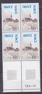 N° 1921 Régions: Alsace: 1 Bloc De 4  Timbres Neuf Sans Charnière Bord De Feuille Bas - Unused Stamps