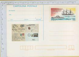 144168 Cartolina Postale Centenario Servizio Postale Sulle Navi - 6. 1946-.. Repubblica