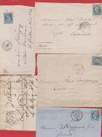 Lot De Lettres - Poststempel (Briefe)