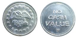 02160 GETTONE JETON TOKEN GAMING PLAY SLOT MACHINE EAGLE NO CASH VALUE - Casino