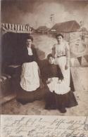 Gruß Von Der Ostsee, 3 Frauen Im Strandkorb, Studio Fotokarte Gel.1907 Nach Petersdorf Bei Lensalm - Gruss Aus.../ Grüsse Aus...