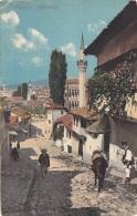 SARAJEVO - Alifakovac, Gel.1910? Nach Malden USA, Sondermarke Bosnien Herzogowina, Transportspuren - Bosnien-Herzegowina
