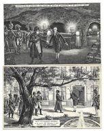 2 CPA - Publicité Champagne MOET Et CHANDON  - NAPOLEON 1er Visitant Les Caves 1807 Et Epernay - Cartes Postales