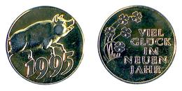02274 GETTONE JETON TOKEN AUSTRIA (?) GLUCK TALER NEW YEARS 1995 - Allemagne