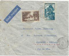 LETTRE  PAR AVION 1939 POUR LA FRANCE AVEC 2 TIMBRES - Französisch-Guinea (1892-1944)