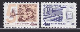 COREE DU SUD N°  310 & 311 ** MNH Neuf Sans Charnière, TB (D5754) Plan Quinquennal, Charbonnages, Cimenterie - Corée Du Sud