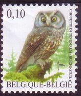BE 2007 - N°3624 XX - Chouette De TENGMALM - 1985-.. Pájaros (Buzin)
