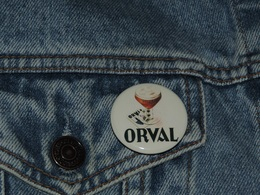 Pin Button Badge Ø38mm ORVAL (bière) - Beer
