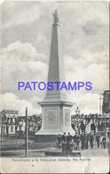 90786 ARGENTINA BUENOS AIRES DOLORES MONUMENTO A LA REVOLUCION CUT POSTAL POSTCARD - Argentina