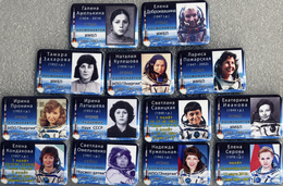 151 Space Russian Pins Set. Female Cosmonaut Corps (replenishment  Recruitment After 1980) 13 Pins - Space