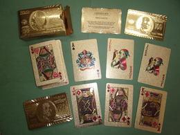 Jeu De 52 Cartes + 2 Jokers + Certificat - Cartes Dorées 999.9 Gold Foil - 5.5 X 8.5 Cm - Playing Cards (classic)