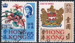 Hong Kong - Série Courante (Fleur Et Armoiries) 236/237 Oblit. (année 1968) - Hong Kong (1997-...)