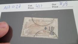 LOT 389590 TIMBRE DE FRANCE OBLITERE N°167 VALEUR 27 EUROS - France