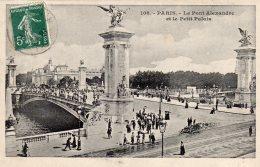Paris Le Pont Alexandre Et Le Petit Palais écrite 1909 Lot 1007 - Bridges