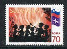 SLOVENIA 1995 Scouting Block Of 4 MNH / **.  Michel 120 - Slovenia