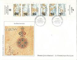Envellope    1er Jour   Explication Du Theme Derriere L'envellope Les Explorateur - France
