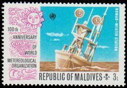 Maldives Islands Scott # 466. 3l Multicolored (1974) NomadWeather Station, Mint Never Hinged - Maldives (1965-...)