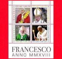Nuovo - MNH - VATICANO - 2018 - Pontificato Di Papa Francesco MMXVIII - Pontificate Of Pope Francis - BF - Blocchi E Foglietti
