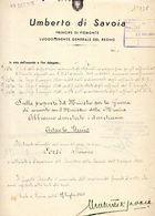 1945 UMBERTO DI SAVOIA - Decreti & Leggi