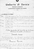 1945 UMBERTO DI SAVOIA DECRETO - Decreti & Leggi