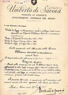 1945 UMBERTO DI SAVOIA DECRETO - Gesetze & Erlasse