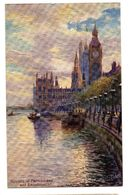 TUCK'S POST CARD  LONDON Houses Of Parliament - Tuck, Raphael