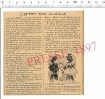Presse 1897 Papilla Mexicaine Remplace Le Lait Pour Bébés / Conférence Emile Alglave Vermouth Cognac Alcool 216CH7VT - Old Paper