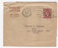 Entier Postal Cloche Glocke Bell FORCES LETTER PADDINGTON YWCA LONDON 1945 GREAT BRITAIN GRANDE BRETAGNE ROYAUME UNI AN - Music