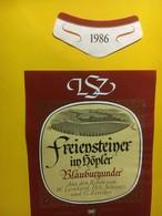7970 - Freiensteiner Im Höpfer  Blauburgunder (Pinot Noir) 1986 Suisse - Etiquettes