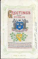 Greetings From Dublin - Woven In Pure Silk -  Circulé - Dublin