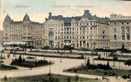 Budapest - Szabadsag Tér -  Freiheitplatz (animation, Colors, 1908) - Hongrie