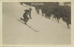 Ref W845- Sports D Hiver - Ski - Skieurs - Skieur Viggo Christensen - Carte Bon Etat - - Wintersport