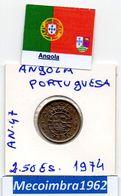 *AN.47 - 2,50 Escudos 1974 Angola Portuguesa - Colonia - Angola
