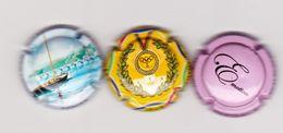 3 Capsules Muselets Vouvray 1 Cancen Val De Loire Avec URL 1 Jeux Olympiques 1 Crémant Avrillé Biotteau émotion Mauve - Spumanti