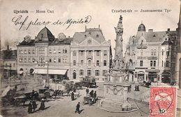 Ujvidek - Erzsebet-ter (top Animation, Tram Tramway 1914?, Poste Restante) - Hongrie