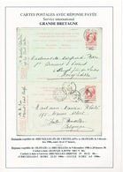 ZZ289 -- Entier Grosse Barbe Double - DEMANDE IXELLES 1906 Et REPONSE Utilisée à SLOUGH Angleterre En Retour - Entiers Postaux