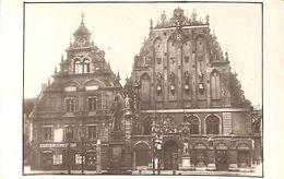Riga - La Maison Des Têtes Noires (carte-photo) - Lettonie