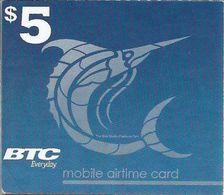 BAHAMAS : BTC Recharge BTC White Logo (WITH Text Airtime Card)   MARLIN  Exp : 30/march/2018 ( 2 Diagonal Bends) - Bahamas