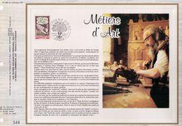 FEUILLET CEF, TIRAGE 20.300 EX, METIERS D'ART, 1978 - Métiers