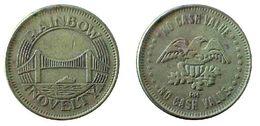 04361 GETTONE JETON TOKEN GAMING PLAY MACHINE RAINBOW BRIDGE NOVELTY EAGLE NO CASH VALUE - Verenigde Staten