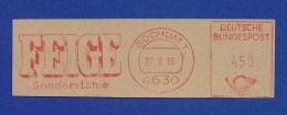 BRD AFS - BOCHUM, Feige Sonderstähle 1985 - Poststempel - Freistempel