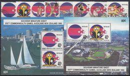 NUEVA ZELANDA 1989 Nº 1051/58 + HB-70/71 USADO - Nueva Zelanda