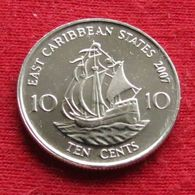 East Caribbean States 10 Cents 2007 KM# 37  Caribbean Caraibas Caraibes Orientales - East Caribbean States