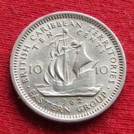 British Caribbean Territories 10 Cents 1962 KM# 5 Caraibas Caraibes Orientales - East Caribbean States