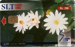 SRI-SLT : TC02 Rs200 Flowers White Lotus MINT - Sri Lanka (Ceylon)