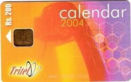 SRI-TRITEL : TRI23 200 Calendar 2004 USED - Sri Lanka (Ceylon)