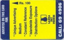 SRILANKA : 04A Rs100 Advertising Advertising MINT - Sri Lanka (Ceylon)
